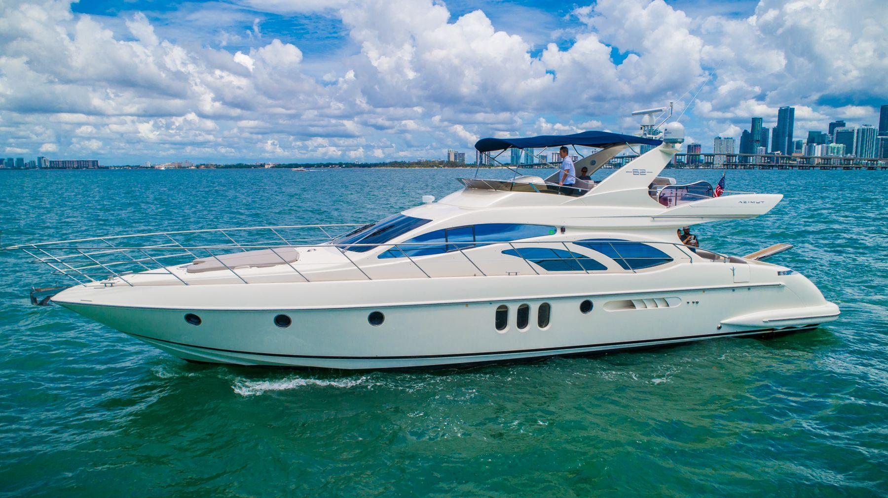 62 Azimut Luxury Yacht Charters Miami