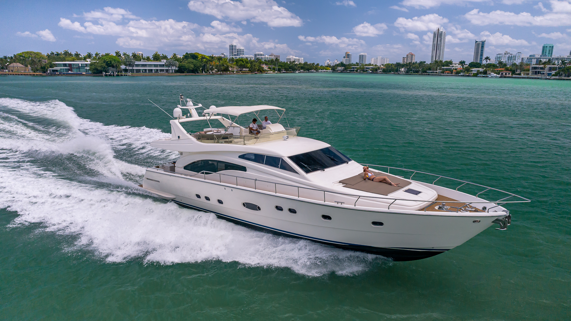 70' Ferretti Luxury Yacht Charters
