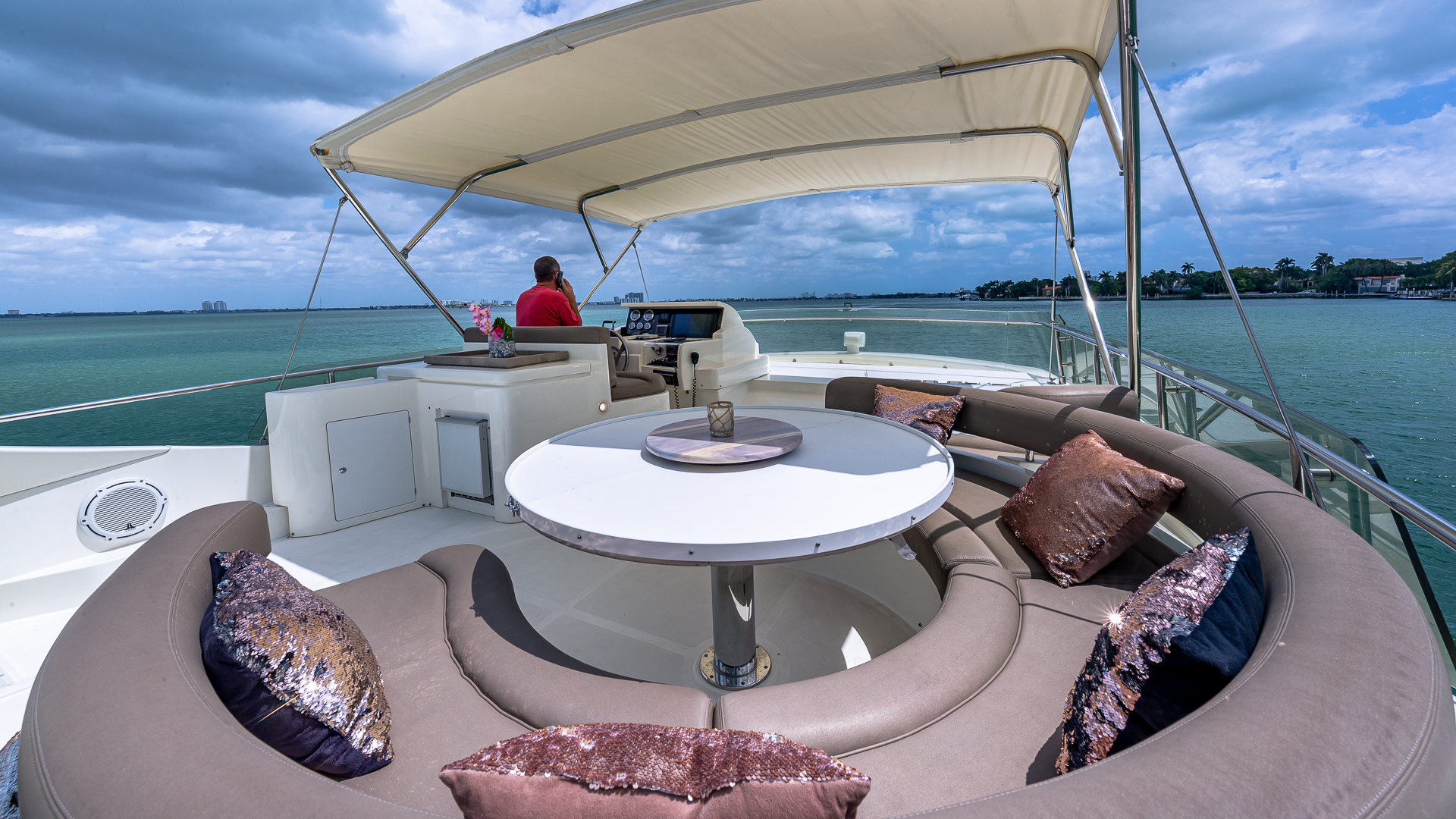 70' Ferretti Luxury Yacht Charters Miami 6